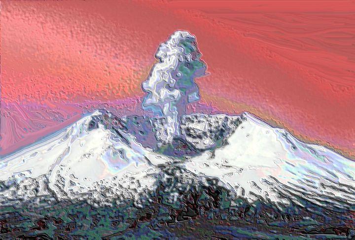 Sint helens volcano - Rene art