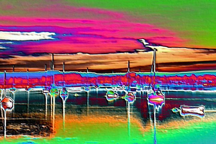 The boat dock - Rene art