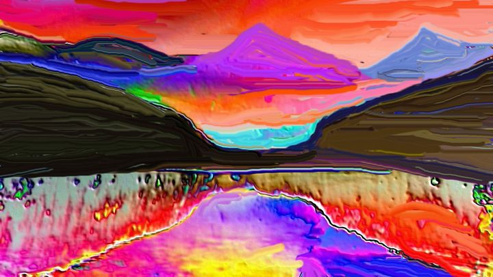 Colors in the mountain - Rene art