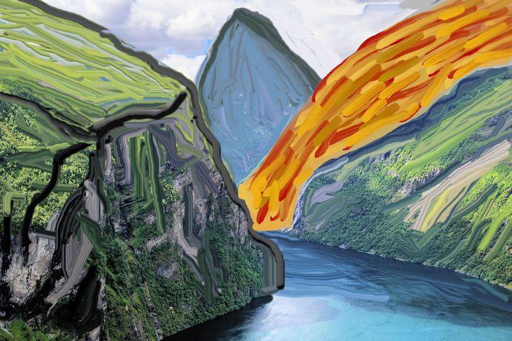 Fjord nr 4 - Rene art