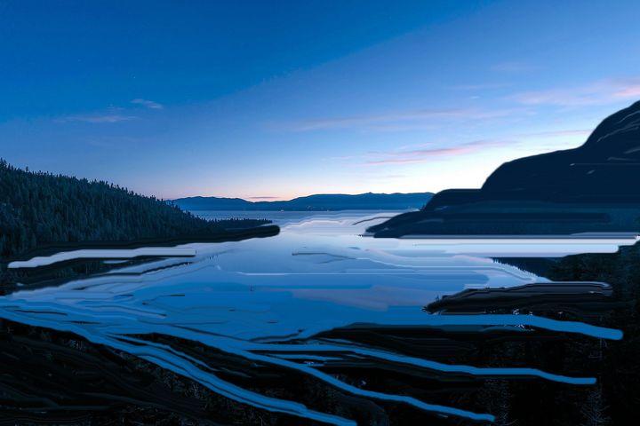 Blue lagoon - Rene art