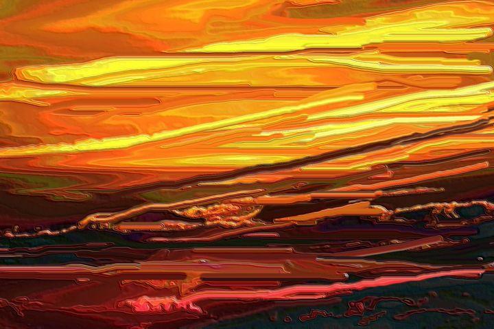 The sky at sunset - Rene art