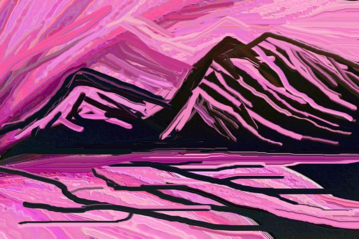 Sunrise in the mountains - Rene art