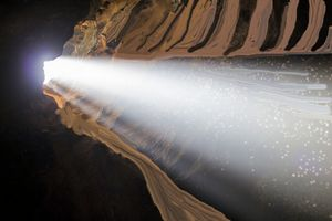 Light through the cave