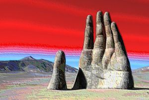 Digital art Mano del desierto
