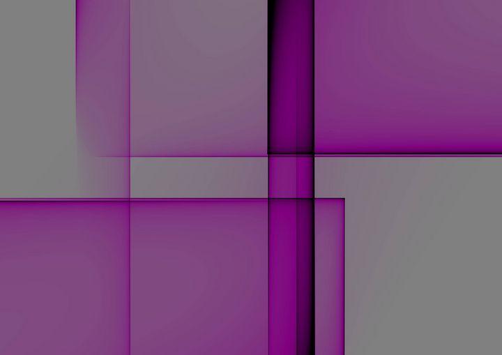 Purple meet grey - Rene art