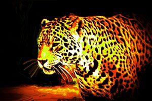 Digital art panther nr 12