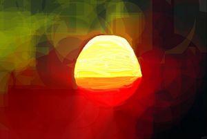Reflextion of the sun