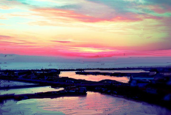 Coastal sunrise - Rene art