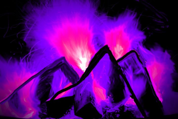 Fire in the mountains nr 145 - Rene art