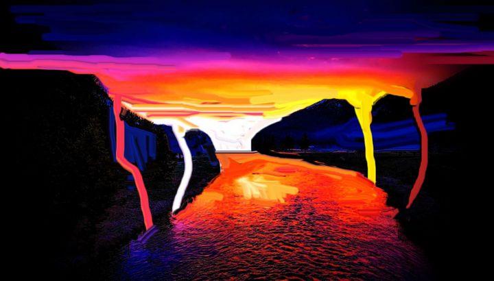 Norwegian sunset nr 9 - Rene art