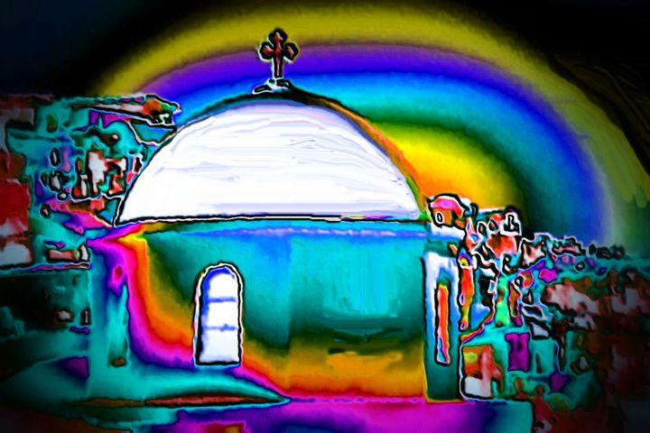Greek church - Rene art