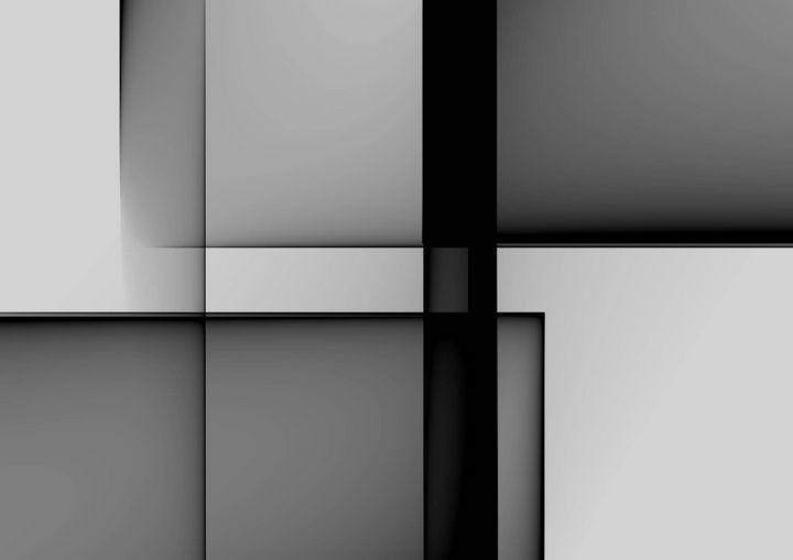 black grey and white - Rene art