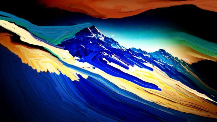Blue in the alps - Rene art