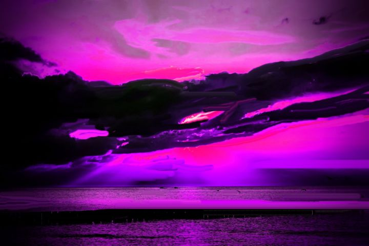 Midnight at the beach - Rene art