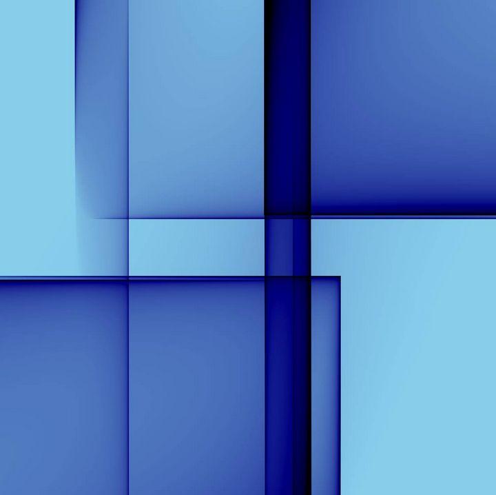Blue on blue - Rene art