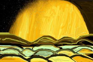 Full moon in the dunes