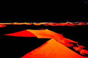The orange landscape