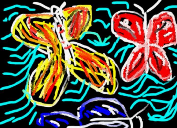 Butterfly garden - Rene art