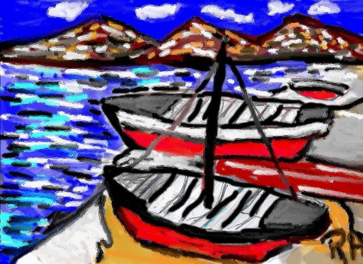 Fishing boats - Rene art