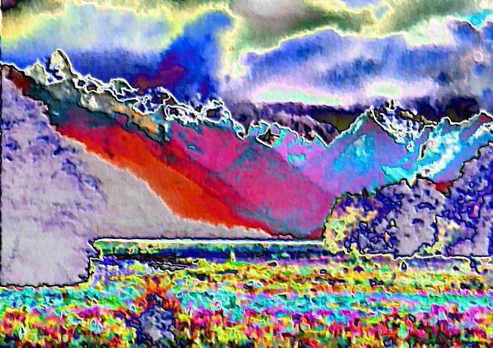 Abstract mountain landscape nr 8 - Rene art