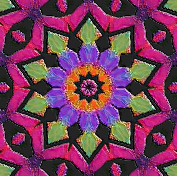 Flower mandala - Rene art