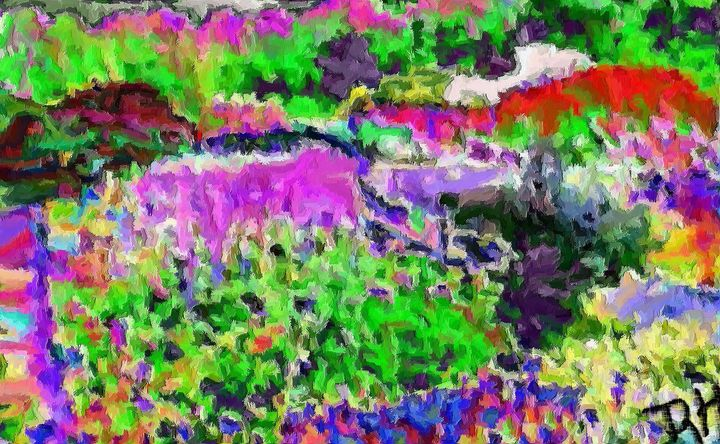 Flower garden nr25 - Rene art