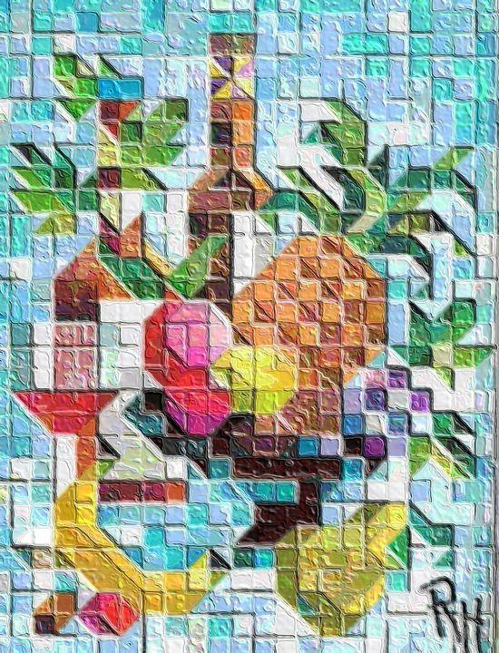 Mosaic still life - Rene art