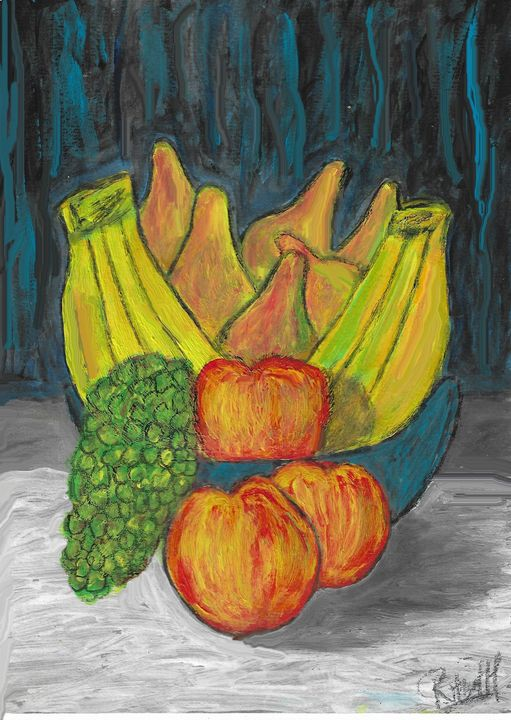 Banana, pear.apples and grape - Rene art