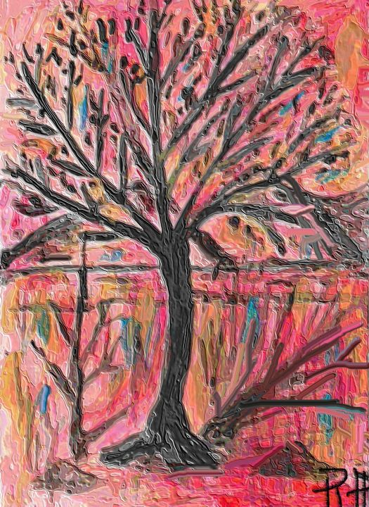 Tree at sunrise - Rene art