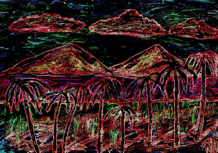 Night on the island - Rene art