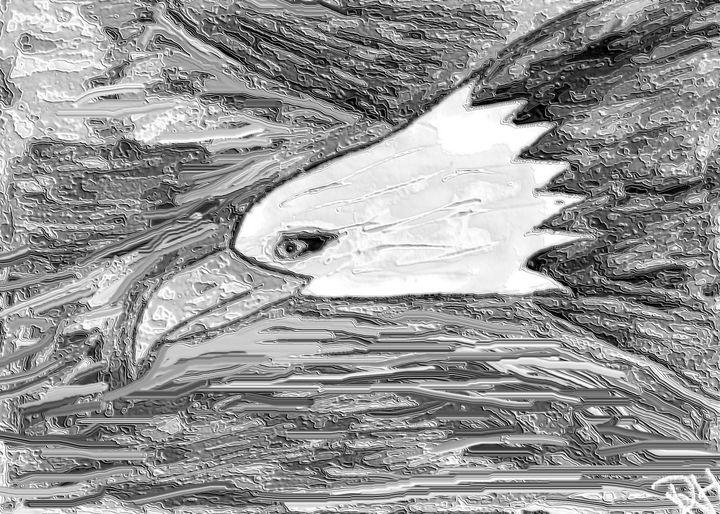 The flying eagle - Rene art