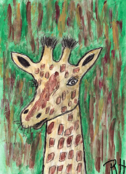 Giraffe nr 5 - Rene art
