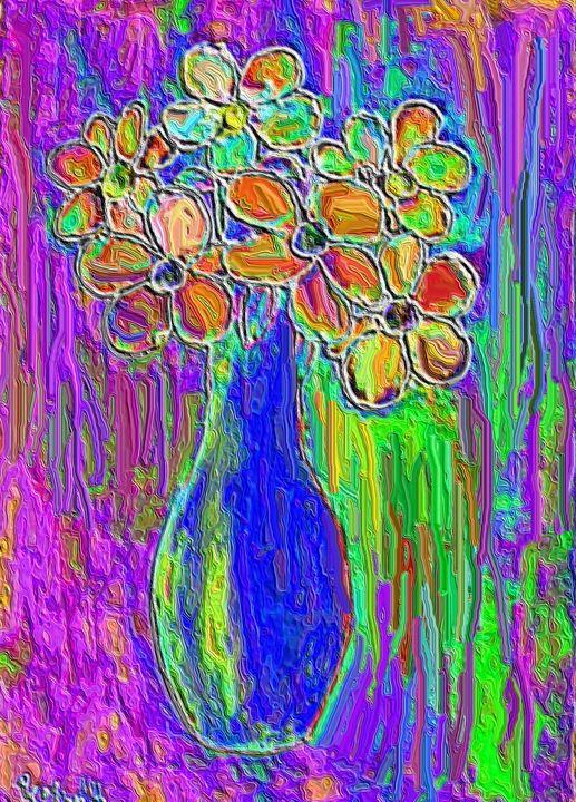 Blue vase - Rene art