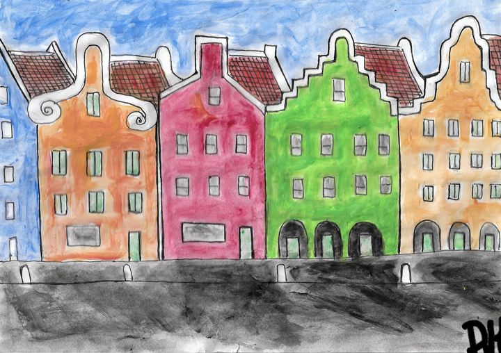 Dutch caribean buildings nr 2 - Rene art