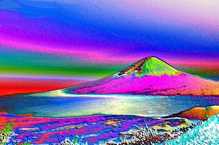 Mount fuji - Rene art