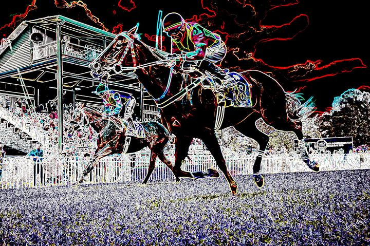 Horse race - Rene art