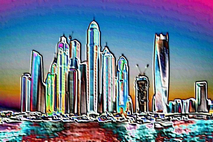 Dubai skyline - Rene art