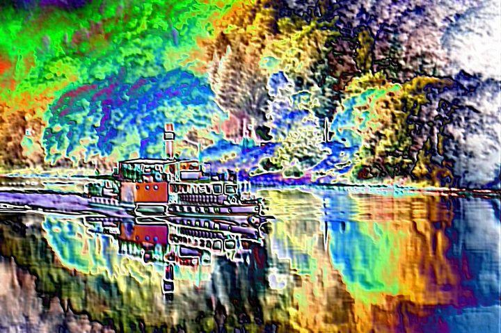 Riverboat - Rene art
