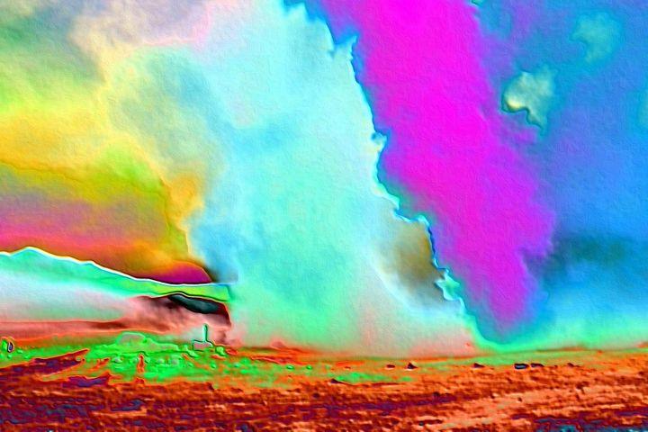 Abstract art volcanic clouds - Rene art