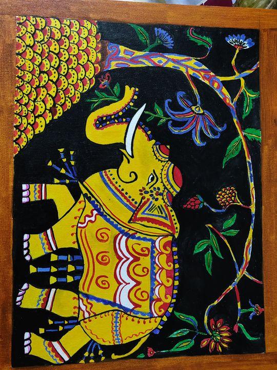 Gajanana - Free hand creations
