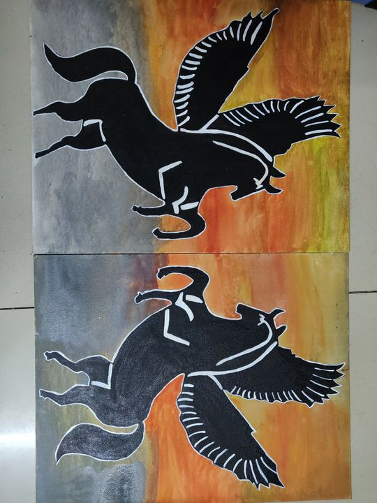 Flying horse - Free hand creations