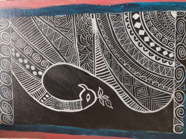 Madhubani 06 - Free hand creations