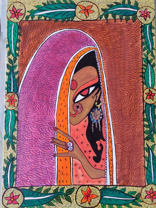 Madhubani 05 - Free hand creations