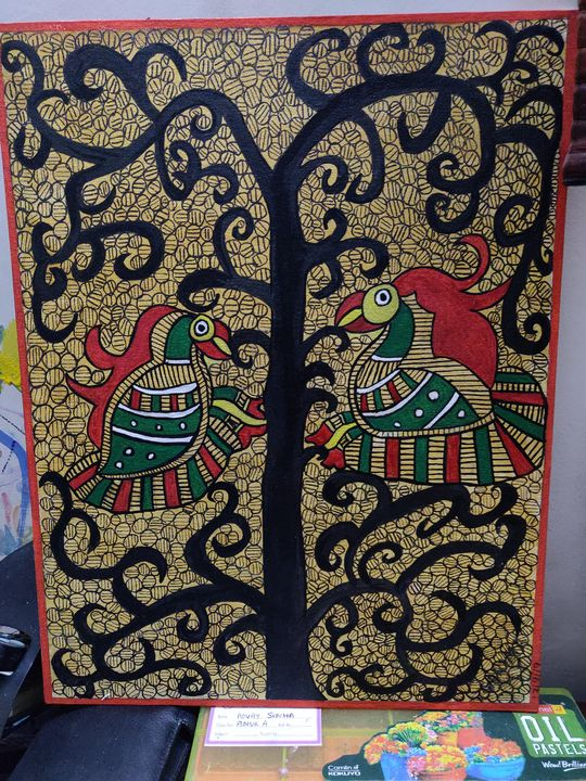 Madhubani - Free hand creations