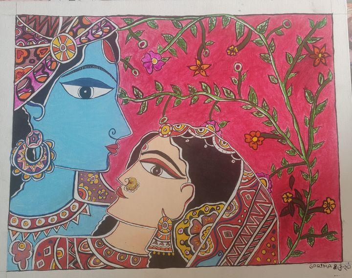 Madhubani 21 - Free hand creations