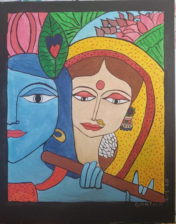 Madhubani 20 - Free hand creations