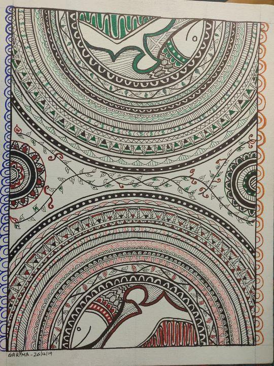 Madhubani 07 - Free hand creations