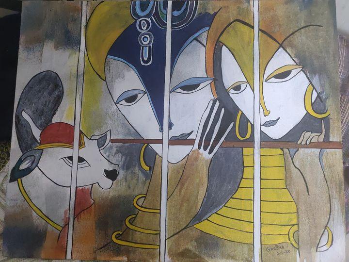 Radha Krishna 3 - Free hand creations