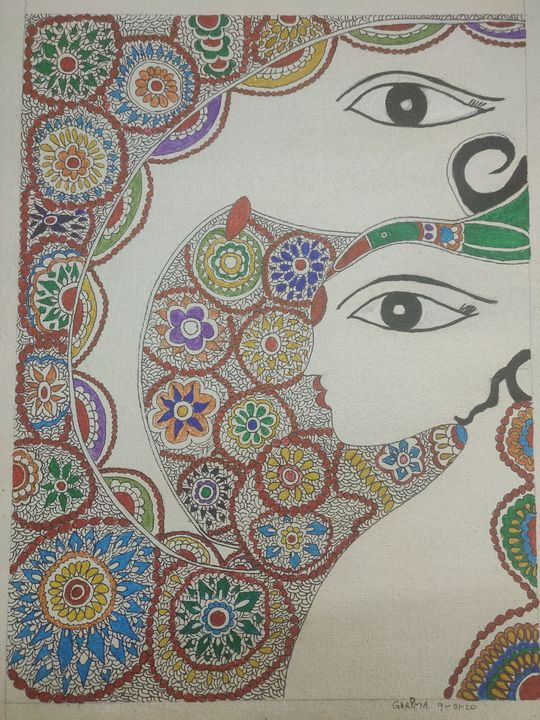 Madhubani 09 - Free hand creations
